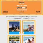 Win Your Choice of WA Getaway for 2 Worth Up to $3,060 +/- 1 of 20 $100 Tiger Airways Vouchers from Tiger Airways [NSW/VIC]
