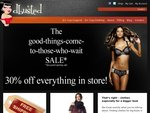 30% off all lingerie and clothing at dbusted