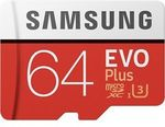 Samsung 64GB Evo+ Micro SD Card $13.50 (or 4 for $45.90 with PLUS15) Delivered @ PC Byte [eBay Plus]