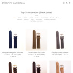 Strapify - 30% off Top Grain Leather Straps ($34.97) and Seat-Belt NATO (from $20.97) with Free Shipping