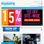 Pushys - 15% off Sitewide. Exclusions Apply