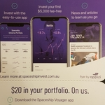 Invest $5 and Get Bonus $20 Investment (New Users Only) @ Spaceship Voyager