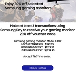 Samsung Pay - Perform 3 Transactions and Receive 20% off Voucher for Selected Samsung Gaming Monitor
