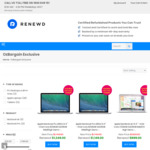 [Refurbished] MacBook AIR, MacBook Pro, iPad and iMac: $135 off Minimum $349 Purchase + Free Shipping @ Renewd