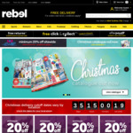 Minimum 20% off Sitewide (& 7% Cashback via Shopback) @ rebel Online