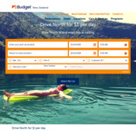 NZ 2-Day Car Hire   Drive North for $2 @ Budget