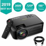 """ABOX A2 LCD Video Projector 3400 Lumen, 180"""" $139.99+ Delivery (Free with Prime/ $49 Spend) @ Goobang Doo Amazon AU"""