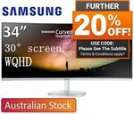 "Samsung C34F791 34"" UWQHD Curved Quantum Dot 100Hz FreeSync Monitor $758.40 Delivered @ Shopping Express eBay"
