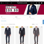Select Suits on Sale - $99.99, (Free Shipping over $85 Spend) @ Tarocash