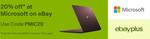 20% off Storewide @ Microsoft eBay (Bose QC35 II Headphones $311)
