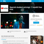 YouTube Music $4.99 (Was $9.99) and YouTube Premium $8.99 (Was $14.99) + 1 Month Free @ YouTube via Student Edge