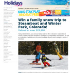 Win a Family Snow Trip to Steamboat & Winter Park in Colorado Worth Over $23,000 from Signature Media