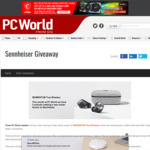 Win 1 of 3 Pairs of Sennheiser MOMENTUM True Wireless Headphones Worth $499.95 from PC World