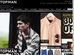 30% off Some Lines and Free Shipping from TOPMAN UK + 20% More off with NUS Code