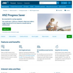 ANZ Progress Saver 1.95% p.a (Minimum $10 Deposit + No Withdrawal in a Month)
