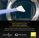 [NSW] Free Sensor Clean for Nikon DSLR and Mirrorless Cameras (3/10) @ Digital Camera Warehouse, Sydney