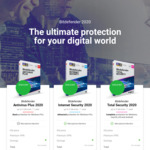 1 Year Bitdefender Antivirus Plus $35, 1 Year Internet Security $49.99, Total Security $59.99 @ BitDefender