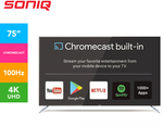 SONIQ 75-Inch UltraHD Google Chromecast Built-In TV 100Hz $994 + Delivery @ Catch