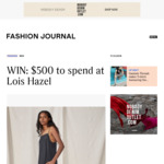 Win a $500 Lois Hazel Online Voucher from Fashion Journal