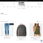 15% off Ladies Surf Clothing, Accessories and Footwear + Delivery (Free with Orders over $100) @ Surf Esteem