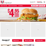 KFC Original Recipe Fill Up $4.95 @ KFC (via App)