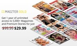 1 Years Gold Subscription to Magzter.com for $29.99 (Normally $99.99) via Groupon