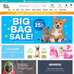Up to 25% off Big Bags + Further 10% off With Code (e.g Black Hawk 20kg $87) + Free Delivery Over $29 @ Pet House