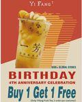 [VIC] BOGOF: Signature Fruit Tea @ Yifang Tea