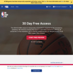 Free - One Month's Access to NBA League Pass | 4 Month's Access to NFL League Pass