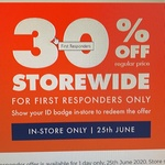 30% off Everything for First Responders In-Store Only @ BCF