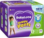 BabyLove Nappy Pants 22-38pk 3 Packs $25.50 ($22.95 w Sub & Save, $21.68 w Prime) @ Amazon AU | $8.50ea @ Woolworths (1/2 Price)