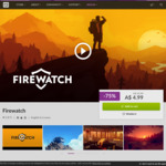 [PC] DRM-free - Firewatch $4.99 (was $19.99) - GOG