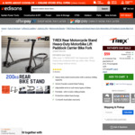 T-REX 200kg Motorcycle Rear Adjustable Stand $59 Delivered @ Edisons