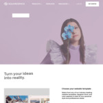 Squarespace: Save 10% off Your First Subscription of a Website or Domain