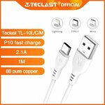 Teclast Type-C or Lightning or Micro USB 1M Cable $0.01 Shipped (Limit 1 Cable Per Account) @ Teclast via AliExpress