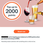[Everyday Rewards] Spend $0.01 to Top up to 2000pts @ BWS