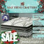 Up to 40% off 7zone Pocket Spring Mattresses: Single from $178, Double $253, Queen $289, King $332 @ Mattress Crafters eBay
