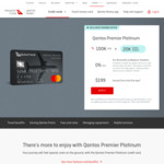 Qantas Premier Platinum Credit Card 100,000/120,000 QFF Points ($4000 Spend/3 Months) + $199 Annual Fee @ Qantas Money
