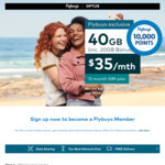 Bonus 20GB on $35/$45 12/24-Month SIM Only Mobile Plans @ flybuys X Optus