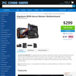 Gigabyte B550 Aorus Master Motherboard $299 + Delivery @ PCCG
