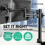 Artiss Dual Monitor Stand Arm Desk Mount 30'' HD LED Display TV Screen Holder $49.45 Delivered @ Ozplaza Living eBay