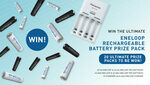 Win 1 of 20 Eneloop Rechargeable Battery & Charger Packs Worth $149 from Panasonic