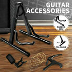 Guitar Stand, Capo, Tuner & Bronze Strings $21.61 (eBay Plus $21.05) Delivered @ Sello Products