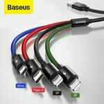 Baseus 4 in 1 & 3 in 1 USB Charging Cables from $4.13 Delivered ($4.09 with eBay Plus) @ baseus_official_au eBay
