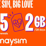 Six 28-Day Renewals of amaysim 2GB/28 Days Mobile Plan $6.97 (+15% Cashback via Cashrewards) @ Groupon