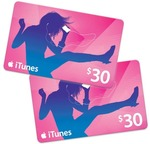 2x $30 iTunes Card for $50 Target