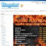 Flingshot Music Mayhem Sale - Save up to 15% off Music Gear ends Thursday 4/4 Midnight