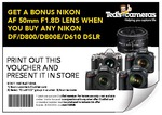 ClubTed Members Only - Buy Nikon Df/D800/D800E/D610, Get Nikon AF 50mm F1.8d Lens Free