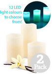 2x Set of 3 LED Colour Changing Scented Candles w/ Remote $19.99 + Shipping @ 1-Day