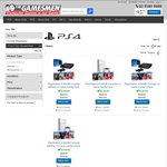 PS4 Console +4 Games, from $549.95 to $589.95 Depending on Game Choice/Colour (Pickup/+Delivery) @ The Games Men